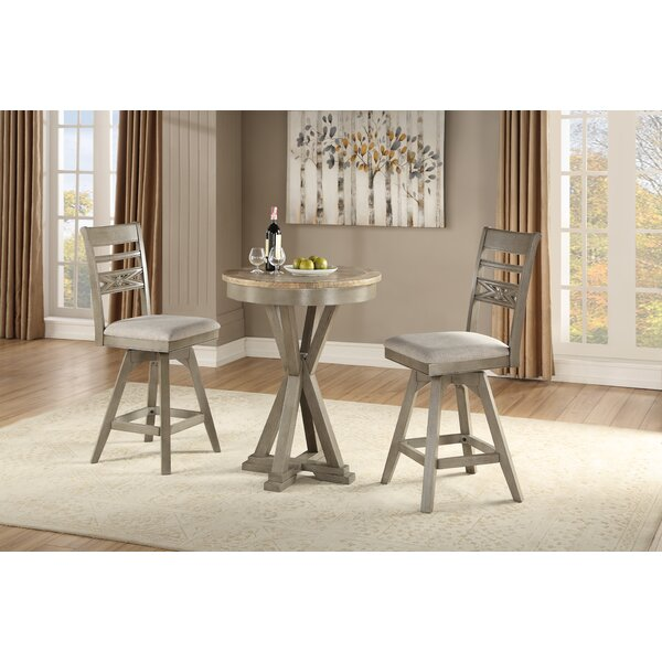 Cates 3 Piece Solid Wood Dining Set By One Allium Way