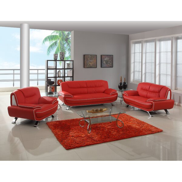 Larrabee Luxury 3-Piece Living Room Set (Set Of 3) By Latitude Run