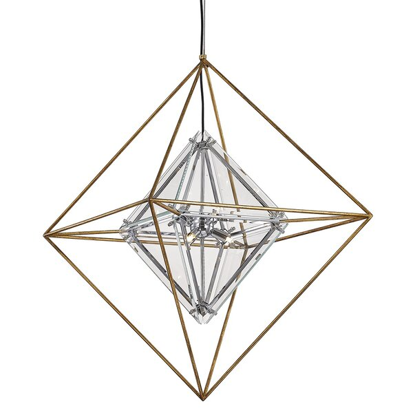 Canas 6 - Light Unique Geometric Chandelier By Brayden Studio