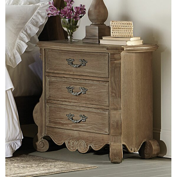 Montana Wooden 3 Drawer Nightstand by One Allium Way