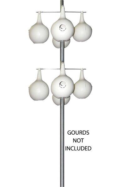 Galvanized Steel Gourd Pole by Heath Mfg Co
