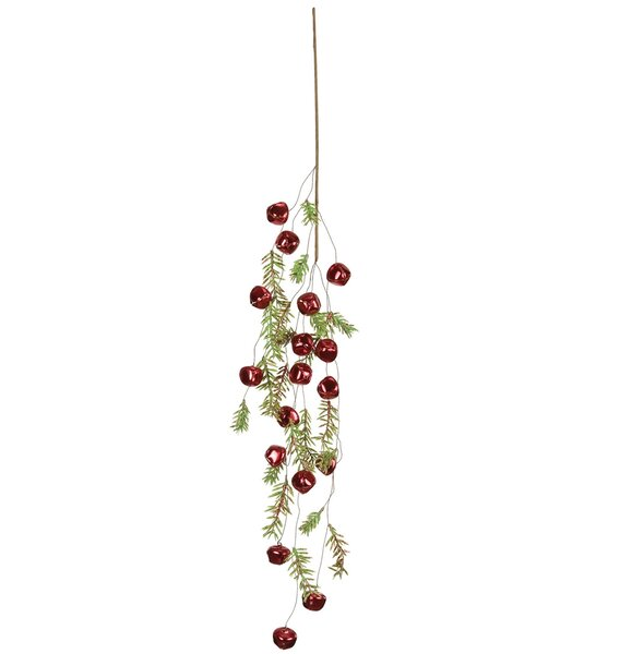Pine with Bell Spray Garland (Set of 4) by The Holiday Aisle