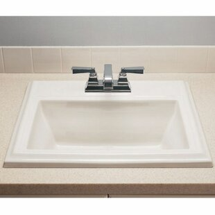 Compare Town Square Ceramic 24 Rectangular Drop-In Bathroom Sink with Overflow By American Standard