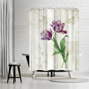 vintage shower curtain. Harrison Ripley Vintage Tulips Shower Curtain