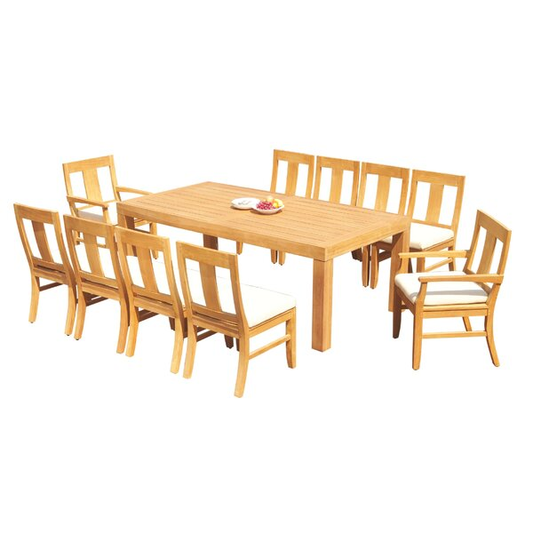 Antwan 11 Piece Teak Dining Set by Rosecliff Heights