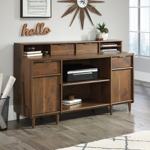 West Town Credenza Desk with Organizer Hutch by George Oliver