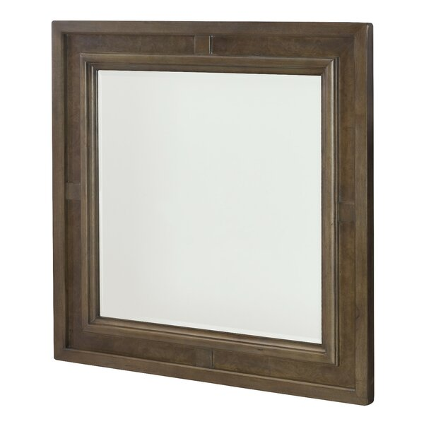 Baford Square Wood Framed Wall Mirror by Gracie Oaks