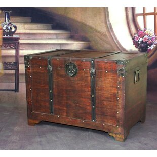 Reclaimed wood trunk wayfair destinee wooden trunk gumiabroncs Gallery