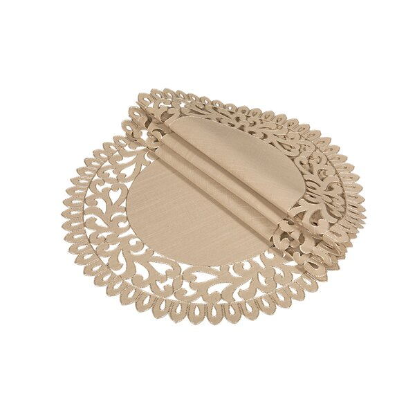 Burnard Embroidered Cutwork Round Placemat (Set of 4) by One Allium Way