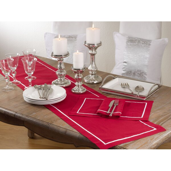 Alishia Classic Pleated Design Placemat (Set of 4) by Darby Home Co