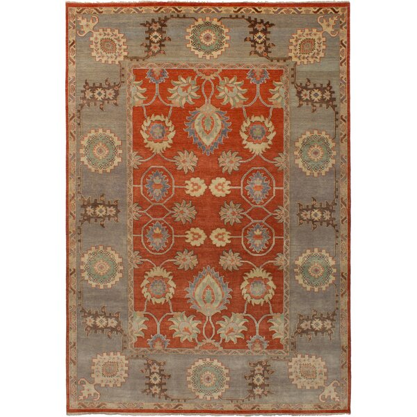 One-of-a-Kind Donofrio Hand-Knotted Wool Dark Copper/Gray Area Rug by Isabelline