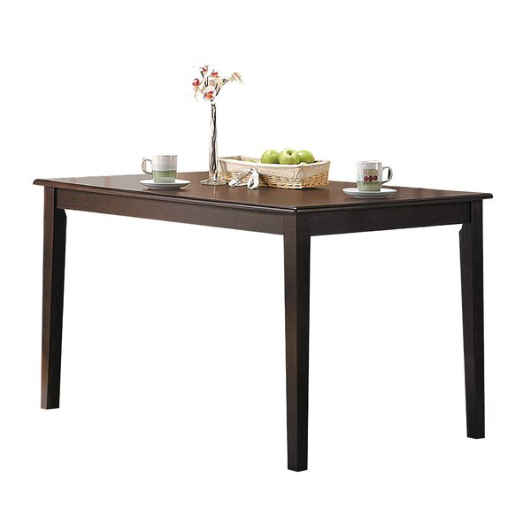 Mattes Tapered Leg Solid Wood Dining Table by Winston Porter