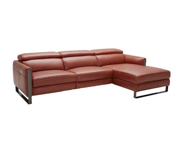 Kress Premium Leather Sectional By Brayden Studio