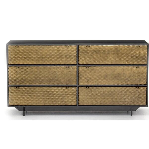 Aymeline Hendrick 6 Drawer Double Dresser by Brayden Studio