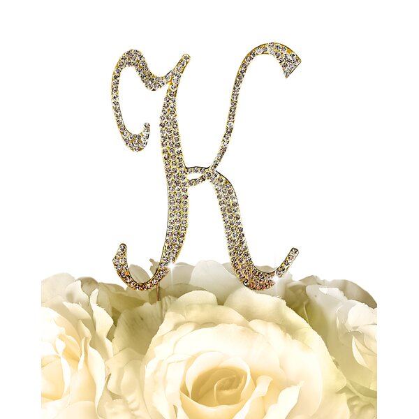 Sparkling Letter Monogram Cake Topper by Unik Occasions