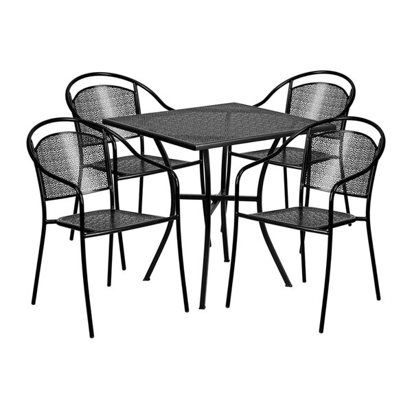 Luciana Outdoor Steel 5 Piece Dining Set by Ebern Designs