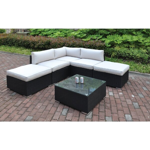 Lacourse 6 Piece Sectional Set with Cushions by Latitude Run