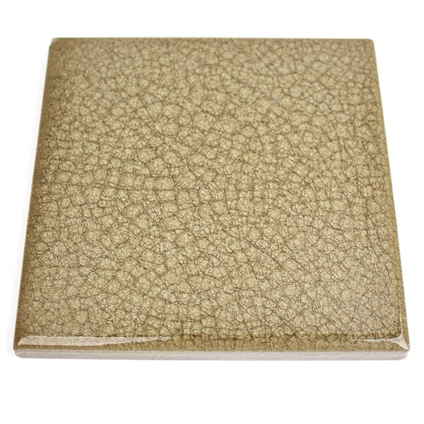 Roman Selection 4 x 4 Glass Field Tile in Iced Gold by Splashback Tile