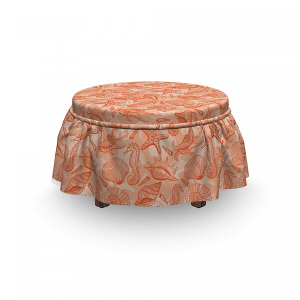 Scallops And Lace Murex Ottoman Slipcover (Set Of 2) By East Urban Home