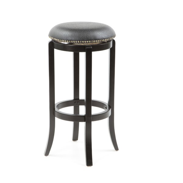 Newport 30 Swivel Bar Stool by Three Posts