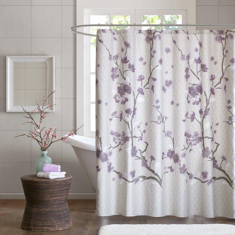 Latitude Run Buchanan Cotton Shower Curtain & Reviews | Wayfair