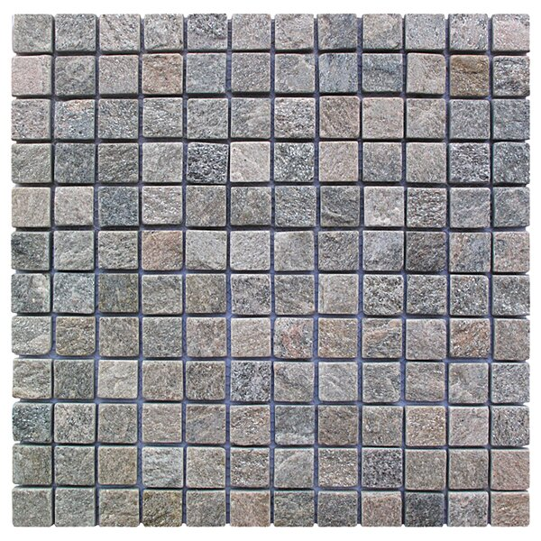 Landscape Wonder 1 x 1 Stone Mosaic Tile in Gray by Intrend Tile