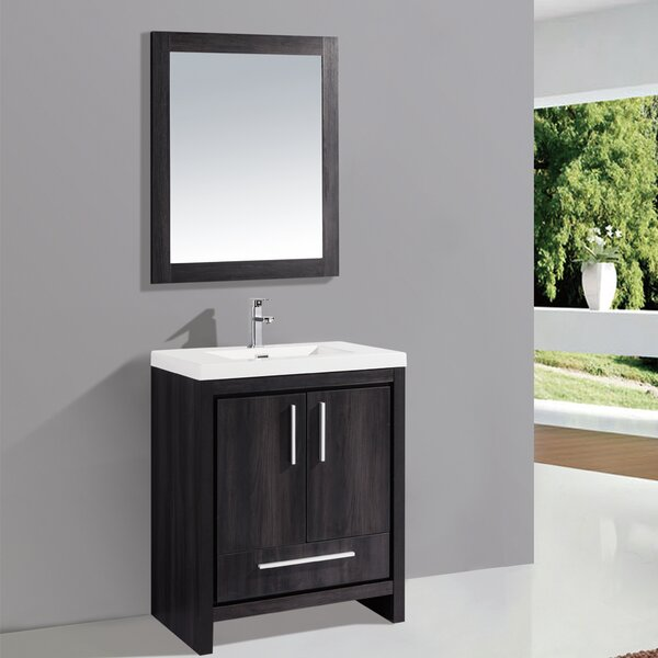 Peiffer 24 Single Sink Bathroom Vanity Set with Mirror by Orren Ellis