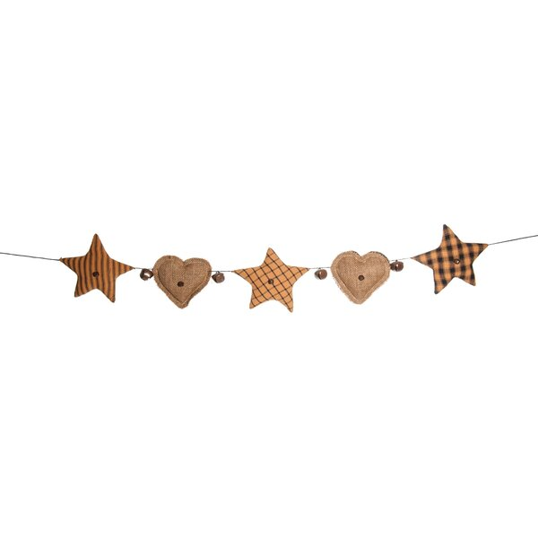Fabric Heart Garland by August Grove