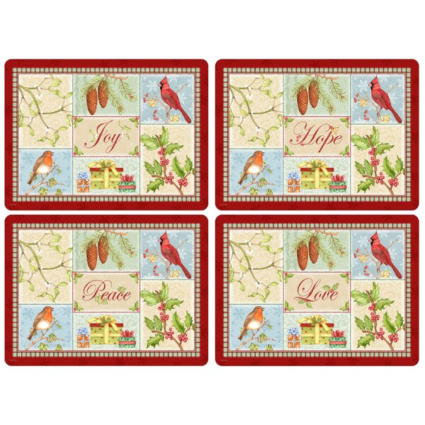 Christmas Sentiments Placemat Set (Set of 4) by Pimpernel