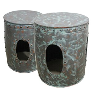 Sagebrook Home Avett 2 Piece End Table Set