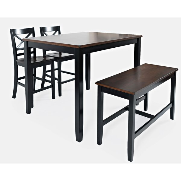 Jagger 4 Piece Dining Set by Breakwater Bay Breakwater Bay