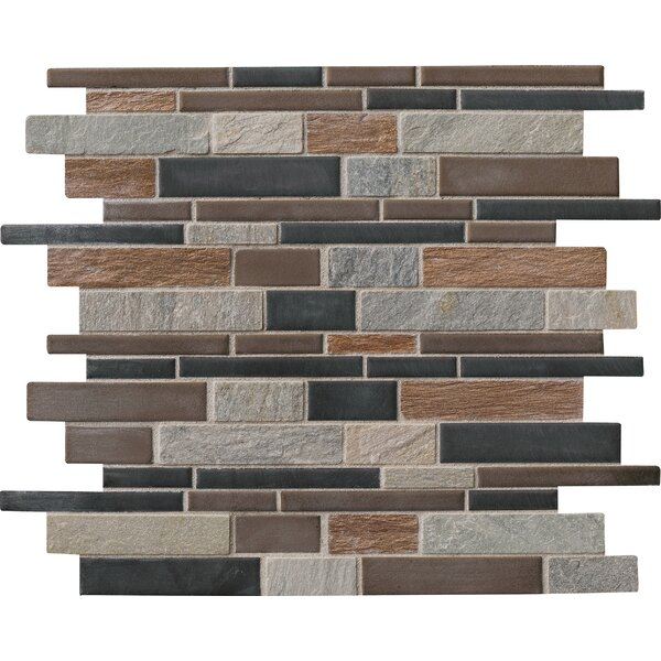 Cobrello Random Sized Porcelain/Stone Mosaic Tile in Brown by MSI