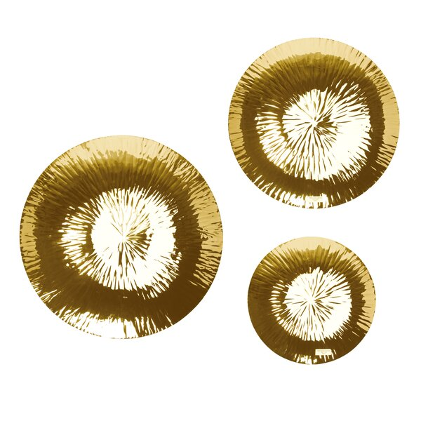 Crick 3 Piece Decorative Plate Set by Bloomsbury M