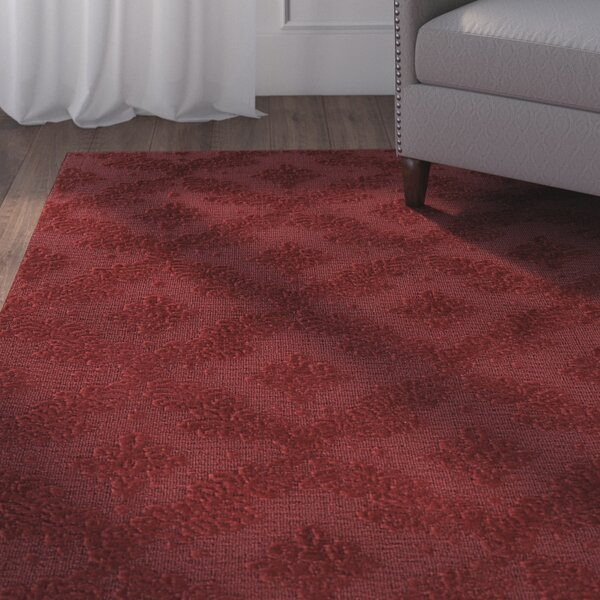 Spafford Red Area Rug by Charlton Home