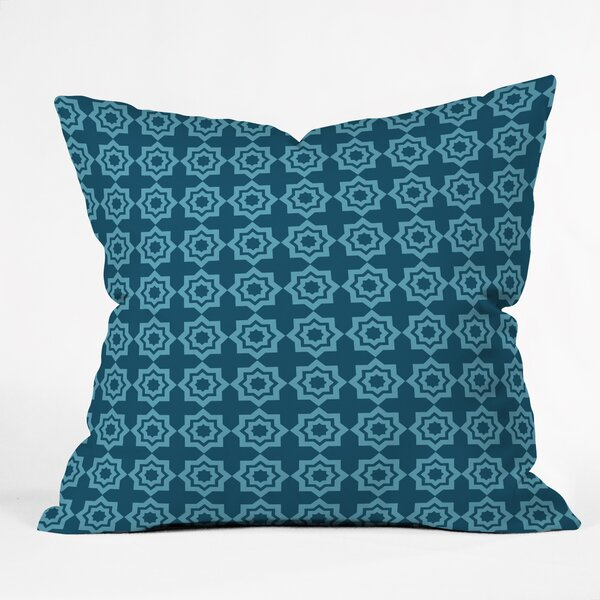 Moroccan Mirage Throw Pillow by East Urban Home