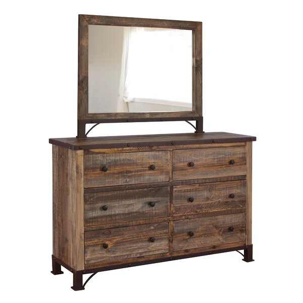 Clarence 6 Drawer Double Dresser by Rosalind Wheeler