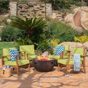 Audrick 5 Piece Seating Group with Cushions By Highland Dunes