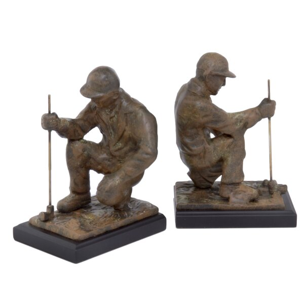 Golfer Book Ends (Set of 2) by Modern Day Accents