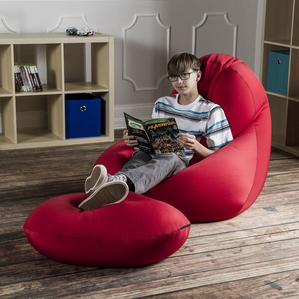 Nimbus Bean Bag Lounger and Ottoman by Jaxx