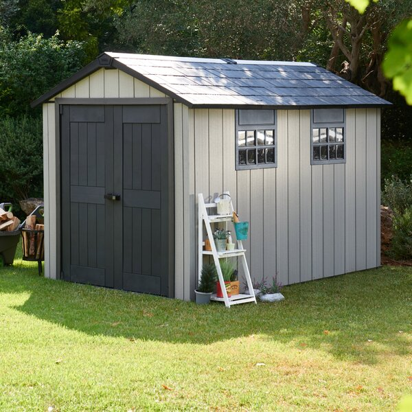 Oakland 7 ft. W x 11 ft. D Plastic Storage Shed by Keter