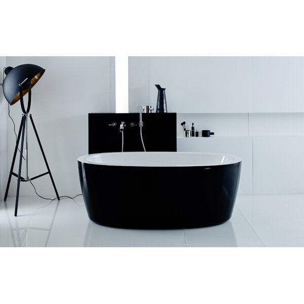 Purescape 63 x 30 Whirlpool Freestanding Bathtub by Aquatica