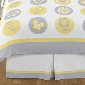 Mod Garden Queen Bed Skirt by Sweet Jojo Designs