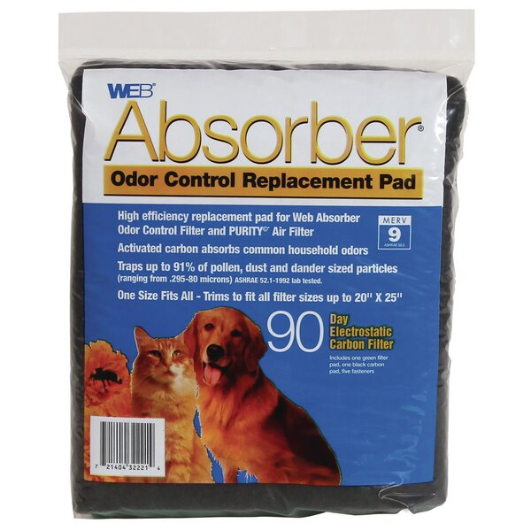 Absorber Odor Control Replacement Pad by WEB Products