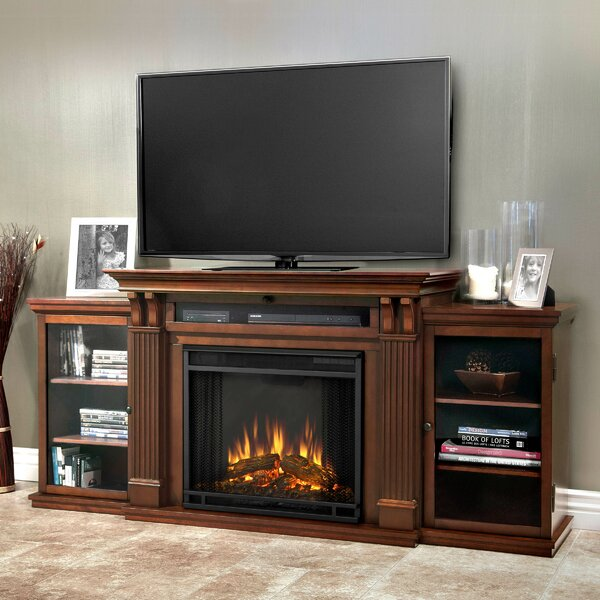 Calie TV Stand With Electric Fireplace Included By Real Flame