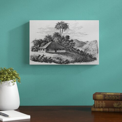 A Planters House in Brazil by J Ramage Art Print on Canvas