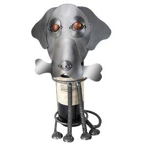 Labrador Dog Caddy 1 Bottle Tabletop Wine Rack by H & K SCULPTURES