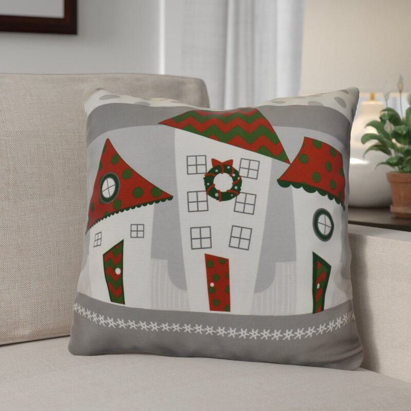 The Holiday Aisle Decorative Christmas Print Outdoor Throw Pillow Extraordinary Outdoor Decorative Christmas Pillows