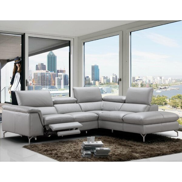 Dupont Leather Reclining Sectional by Wade Logan