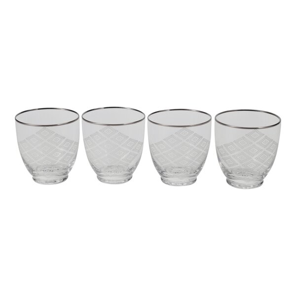 Etched Design Cocktail Glass (Set of 4) by Floor 9