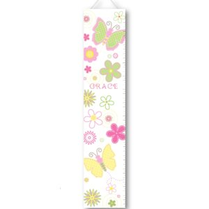 Pastel Butterflies Personalized Growth Charts by JDS Personalized Gifts